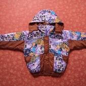 Новая демисезонная куртка на 5-7 лет. На сентипоне.