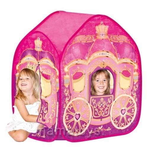 Детская игровая палатка 3316 куб карета для принцессы, размер 95-65-105 см фото №1