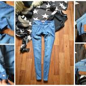 Крутые джинсы-бойфренды,р-р С