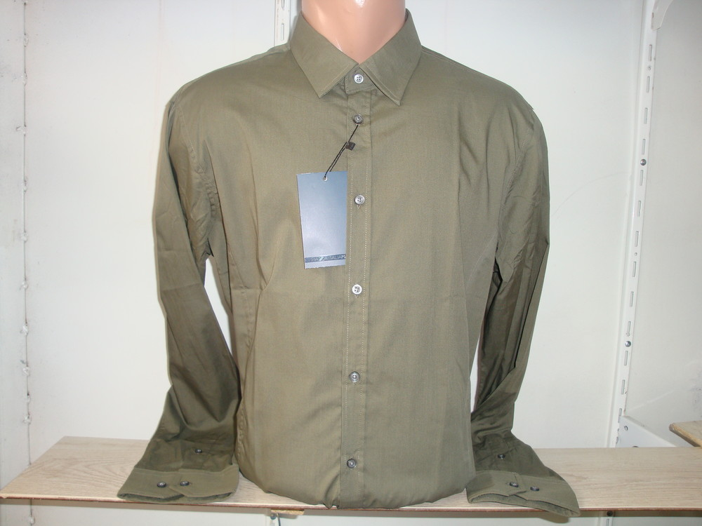 Мужская однотонная рубашка с длинным рукавом Piazza Italia Man фото №1
