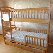 Двухъярусная кровать Карина Люкс в комплекте с матрасами и с ящиками
