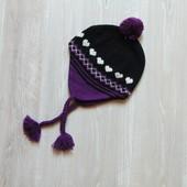 Стильная шапка для девочки. Размер не указан, ориентировочно на 3-6 лет (смотрите замеры)
