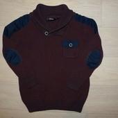 Бордовый свитер George 6-7 лет, рост 116-122