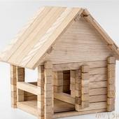 Загородный домик Игротеко Конструктор из дерева (дуб) - 146 деталей