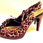 Леопардовые туфли сабо р.39