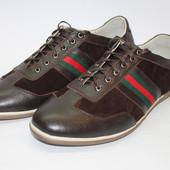 СП Мужские натуральные кожаные туфли, черные, коричневые, синие, серые, зеленые, фиолетовые р. 41-44