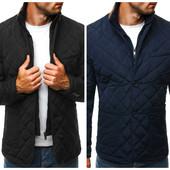 Ультрамодная стеганая мужская осенняя куртка
