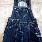 джинсовый сарафан Lupilu для девочки 9-12 мес.