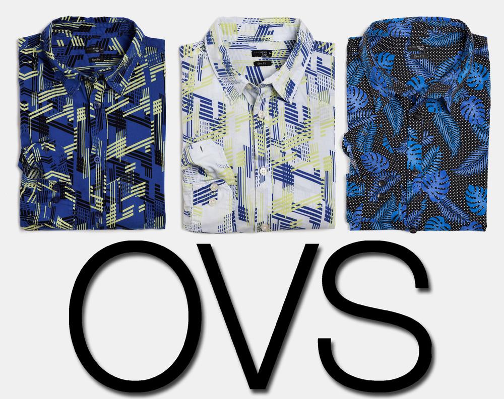 Рубашка мужская slim fit jeanswear 72d фирмы ovs италия фото №1