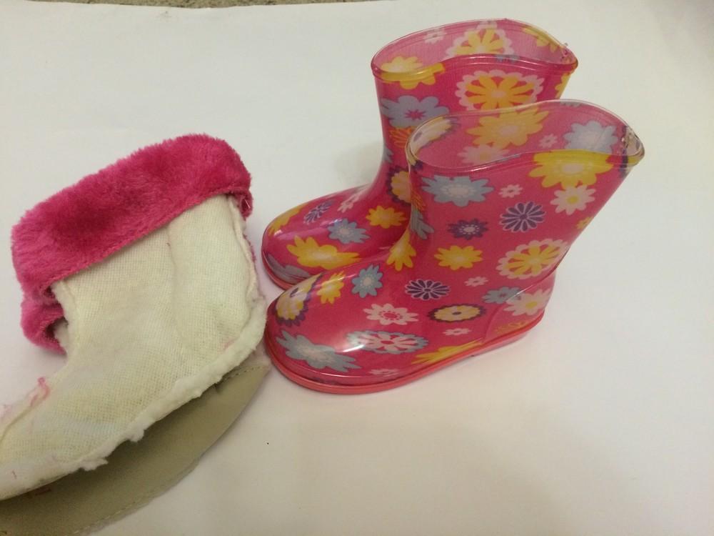 Резиновые сапоги розовые для девочки с утеплителем фото №6