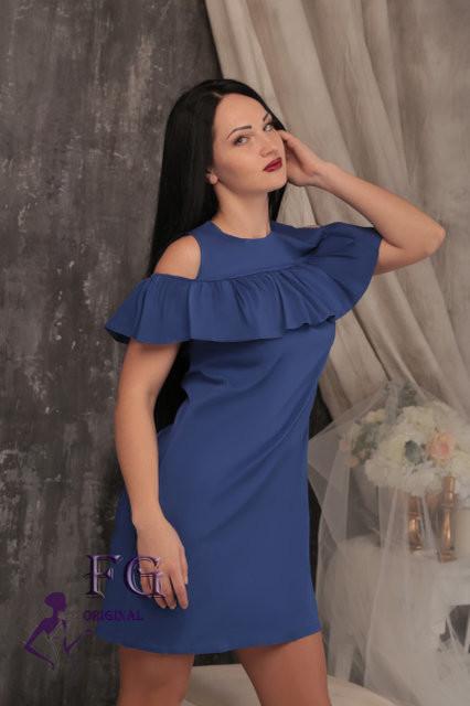 Платье с воланом и карманами фото №1