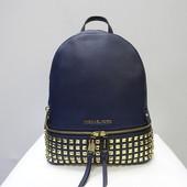 Кожаный рюкзак с заклёпками Michael Kors navy оригинал