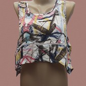 Классная майка  кроп топ от Zara TRF- 8/s -50 грн
