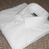 Рубашка белая с длинным рукавом. 43 см