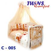 Детский постельный комплект (8ед) Twins - Comfort Садовники 3 цвета