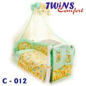 Детский постельный комплект (8ед) Twins - Comfort Пушистые медведи 4 цвета
