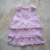 Платье на возраст 0-3 мес (реально до 6 мес)