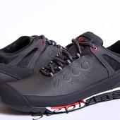 Кроссовки кожаные Ecco Natural Motion Black