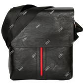 Мужская сумка черная с красной вставкой Е 54163