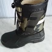 Мужские зимние, лёгкие сапоги сноубутсы для комфортной ходьбы и тёплых ног