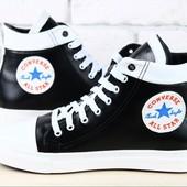 Женские кожаные кеды Converse, разные цвета