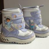 Ботинки зимние с мигалками 25р. (15,5см стелька)