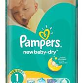 Подгузники Pampers Active Baby-Dry 1 43шт памперс актив беби