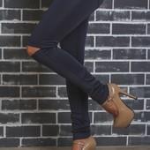 Лосины женские с разрезами на коленях