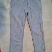 Классные полосатые льняные брюки в джинсовом стиле Zaatxchi Голландия