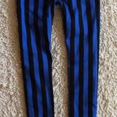 Крутые стильные полосатые джинсы на 11-12 лет