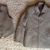 Пиджак+жилетка на рост 134 см