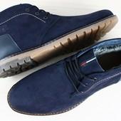 Ботинки  зимние на шнурках,натуральная кожа, внутри набивная овчина