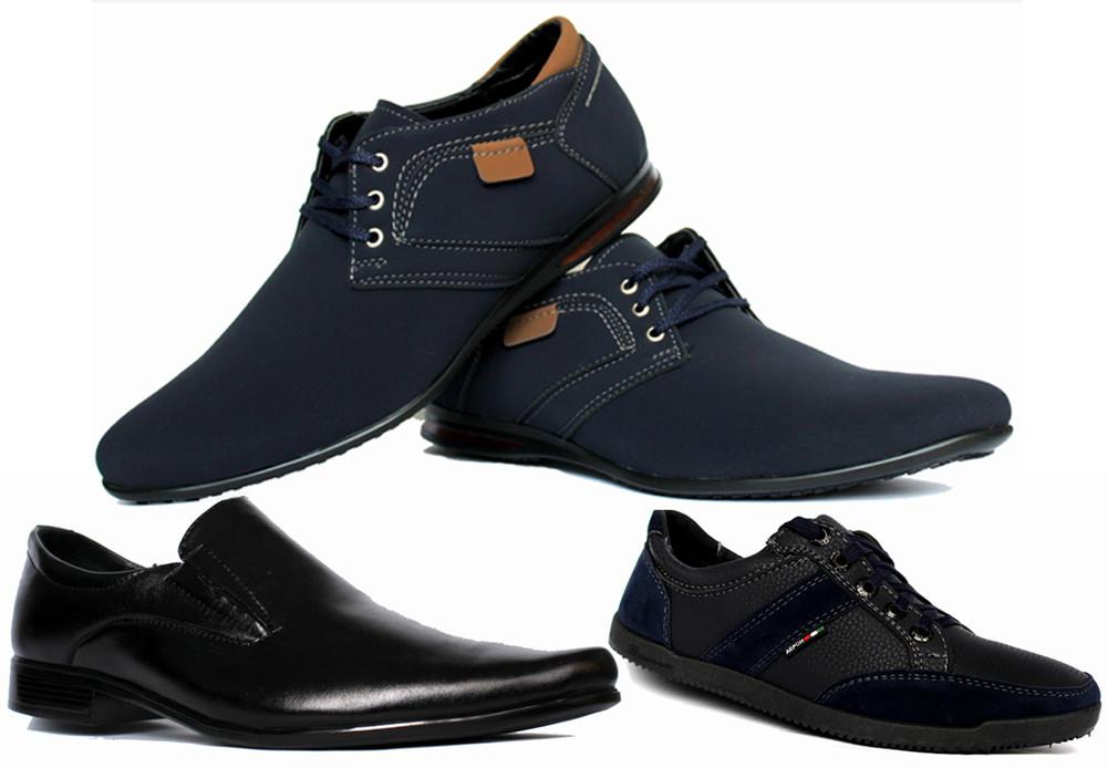 Мужская обувь в ассортименте, мужские кроссовки, туфли и мокасины дешево фото №1