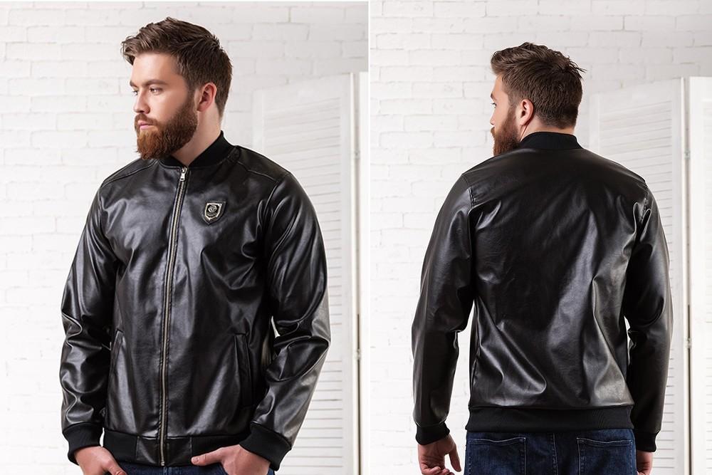 """Мужская куртка """"Филип Плейн"""" кожа. Размеры : 46,48,50,52 (2с фото №1"""