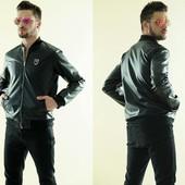 """Мужская куртка """"Филип Плейн"""" кожа. Размеры : 46,48,50,52 (2с"""