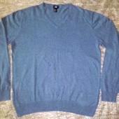 Обалденный джемпер H&M. Цвет очень красивый джинсовый меланж, 100% хлопок, выглядит мегастильно