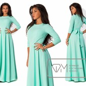 7632 Стильное платье 3 цвета