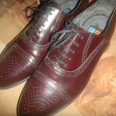 оксфорды новые кожаные мужские туфли Германия