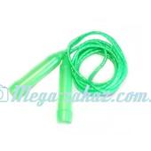 Скакалка гимнастическая детская: микс цветов, длина 265см
