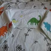 Крутая защита на кроватку с динозавриками