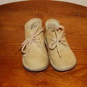 Натуральные замшевые ботиночки р.22 ст.-13.5-14 см