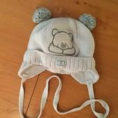 Зимняя детская шапка  обхват 36-38