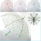 Зонтик детский  матовый в горошек  в горошек, 3 цвета
