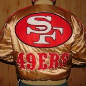 Фирменная оригинал спортивная куртка Campri бомбер Nfl Сан Францыско .л-м
