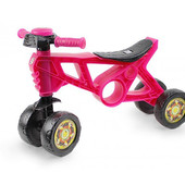 Мотоцикл 4 колеса Розовый Беговел 2 Орион 188 ролоцикл