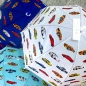 Зонтик детский с машинками для мальчиков