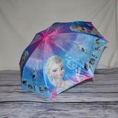 Зонтик детский полуавтомат с изображением героев м/ф Холодное сердце Frozen тканевый