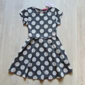 Новое платье в горох для девочки. Y.D. Размер 7-8 лет