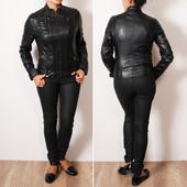 Стильная облегающая куртка под кожу   OW35020