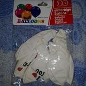 Набор плотных и больших шариков I Love You!